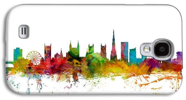 Great Britain Galaxy S4 Cases - Bristol England Skyline Galaxy S4 Case by Michael Tompsett