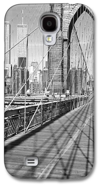 Twin Towers Nyc Galaxy S4 Cases - Brooklyn Bridge Manhattan New York City Galaxy S4 Case by Panoramic Images