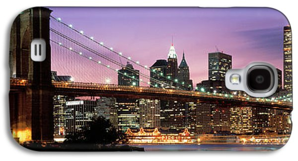 Business Galaxy S4 Cases - Brooklyn Bridge New York Ny Usa Galaxy S4 Case by Panoramic Images