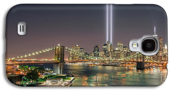 Manhatan Galaxy S4 Cases - Brooklyn Bridge September 11 Galaxy S4 Case by Michael Ver Sprill