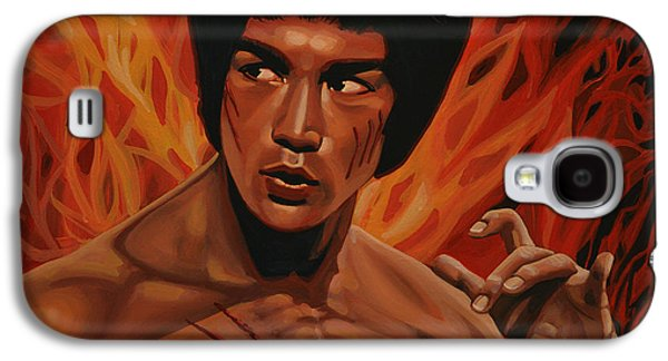 Fury Galaxy S4 Cases - Bruce Lee Galaxy S4 Case by Paul  Meijering