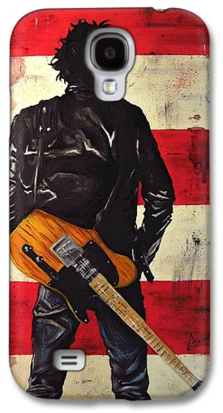 Springsteen Paintings Galaxy S4 Cases - Bruce Springsteen Galaxy S4 Case by Francesca Agostini
