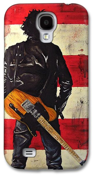 Boss Paintings Galaxy S4 Cases - Bruce Springsteen Galaxy S4 Case by Francesca Agostini
