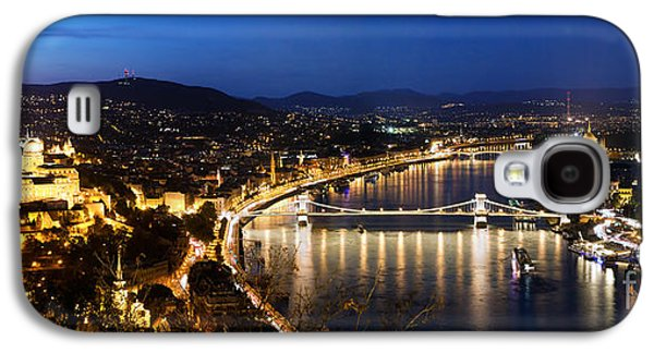 Famous Bridge Galaxy S4 Cases - Budapest. View from Gellert Hill Galaxy S4 Case by Michal Bednarek