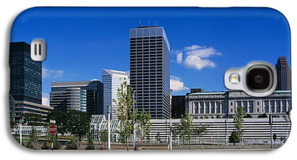 Stop Sign Galaxy S4 Cases - Buildings In A City, Cleveland, Ohio Galaxy S4 Case by Panoramic Images