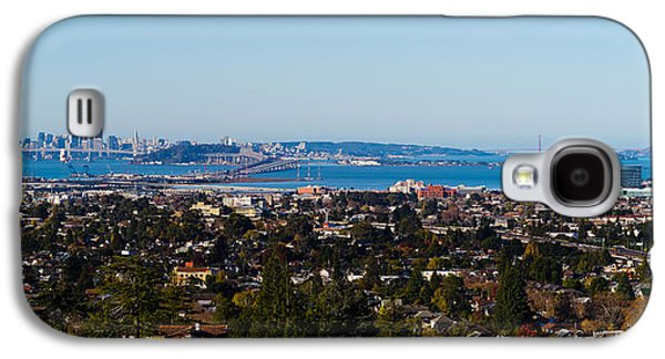 Alcatraz Photographs Galaxy S4 Cases - Buildings In A City, Oakland, San Galaxy S4 Case by Panoramic Images