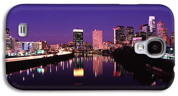 Schuylkill Galaxy S4 Cases - Buildings Lit Up At The Waterfront Galaxy S4 Case by Panoramic Images