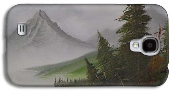Recently Sold -  - Bob Ross Paintings Galaxy S4 Cases - Bull Lake Galaxy S4 Case by Caleb Mitchell
