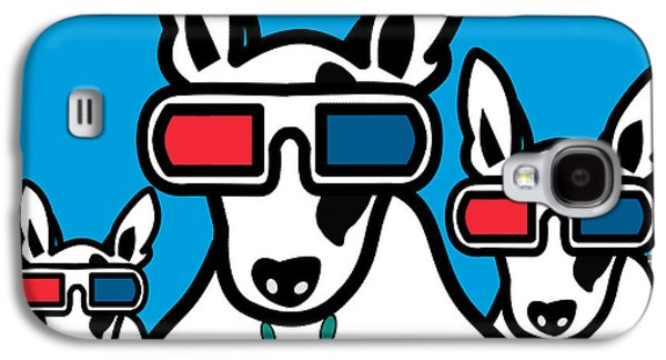 Animation Galaxy S4 Cases - Bull Terrier Galaxy S4 Case by Mark Ashkenazi