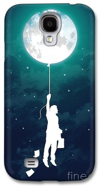 Moon Digital Galaxy S4 Cases - Burn the midnight oil Galaxy S4 Case by Budi Kwan