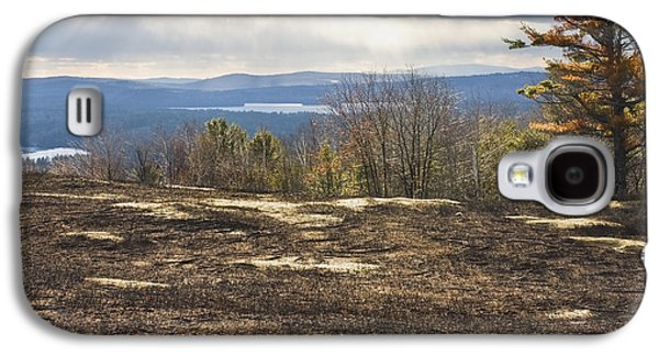 Maine Farms Galaxy S4 Cases - Burnt Blueberry Field In Maine Galaxy S4 Case by Keith Webber Jr