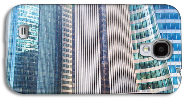 Enterprise Galaxy S4 Cases - Business skyscrapers modern architecture Galaxy S4 Case by Michal Bednarek