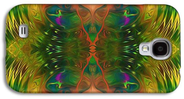 Youthful Galaxy S4 Cases - Butterfly Matrix Galaxy S4 Case by Georgiana Romanovna