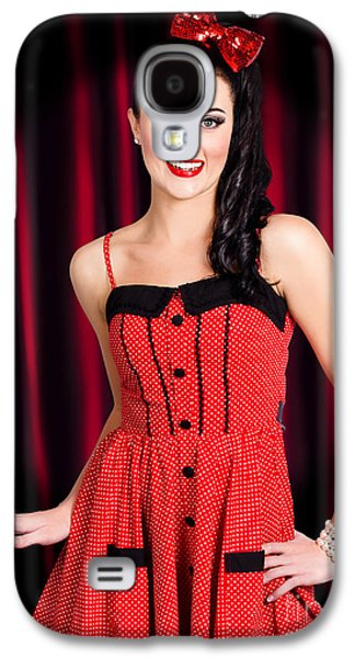 Backstage Photographs Galaxy S4 Cases - Cabaret show girl performer in the stage spotlight Galaxy S4 Case by Ryan Jorgensen