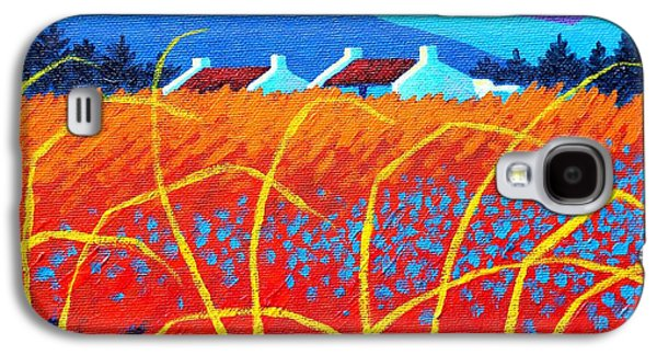 Landscape Acrylic Prints Galaxy S4 Cases - Cadmium Meadow Galaxy S4 Case by John  Nolan