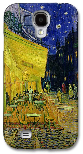 Street Paintings Galaxy S4 Cases - Cafe Terrace Arles Galaxy S4 Case by Vincent van Gogh