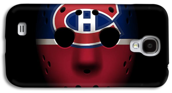 Montreal Canadiens Galaxy S4 Cases - Canadiens Goalie Mask Galaxy S4 Case by Joe Hamilton
