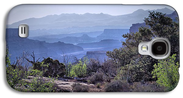 Autumn Landscape Ceramics Galaxy S4 Cases - Canyon Silhouettes Galaxy S4 Case by Nena Trapp