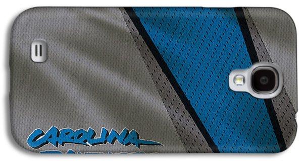 Panther Galaxy S4 Cases - Carolina Panthers Uniform Galaxy S4 Case by Joe Hamilton