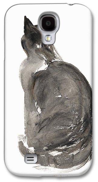 Cat Galaxy S4 Case by Claudia Hutchins-Puechavy