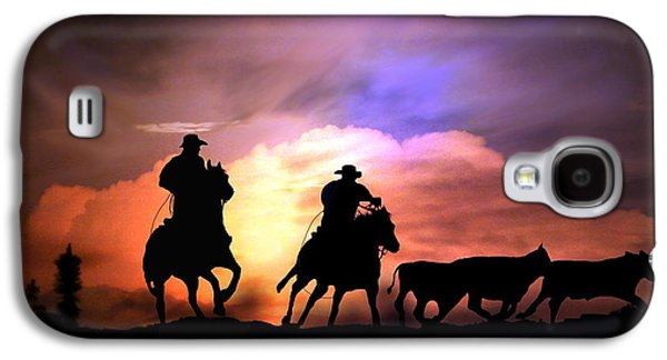 Cattle Drive Photographs Galaxy S4 Cases - Cattle Drive Galaxy S4 Case by Stephanie Laird