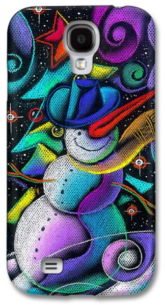 Christmas Eve Paintings Galaxy S4 Cases - Celebration Galaxy S4 Case by Leon Zernitsky