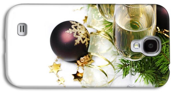 Champagne Glasses Galaxy S4 Cases - Champagne Galaxy S4 Case by Jelena Jovanovic