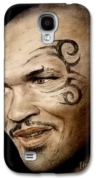Boxer Galaxy S4 Cases - Champion Boxer and Actor Mike Tyson Galaxy S4 Case by Jim Fitzpatrick