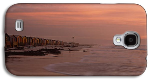 Dressing Room Galaxy S4 Cases - Changing Room Huts On The Beach Galaxy S4 Case by Panoramic Images