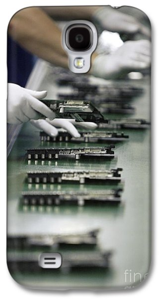 Component Photographs Galaxy S4 Cases - Checking Tv Circuit Board Components Galaxy S4 Case by RIA Novosti