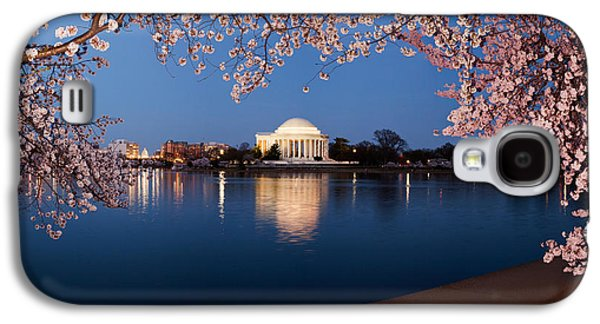 Cherry Blossoms Galaxy S4 Cases - Cherry Blossom Tree With A Memorial Galaxy S4 Case by Panoramic Images