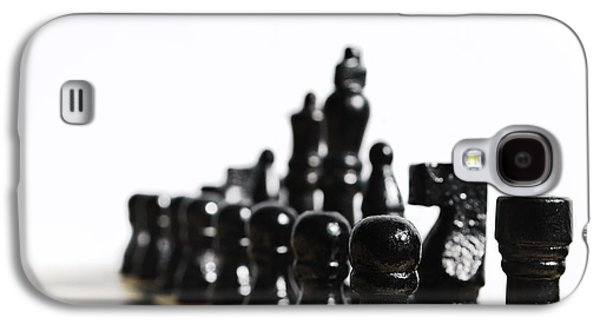 Sports Pyrography Galaxy S4 Cases - Chess Galaxy S4 Case by Jelena Jovanovic
