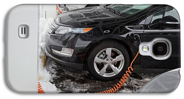 Chevrolet Volt Electric Car Charging Galaxy S4 Case by Jim West