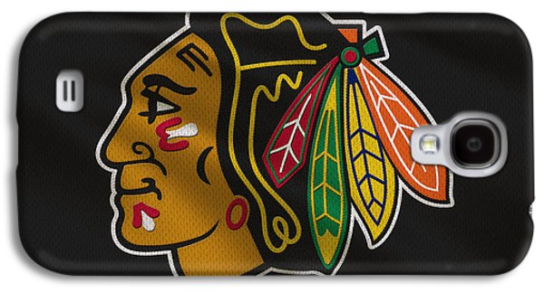 Hockey Photographs Galaxy S4 Cases - Chicago Blackhawks Uniform Galaxy S4 Case by Joe Hamilton