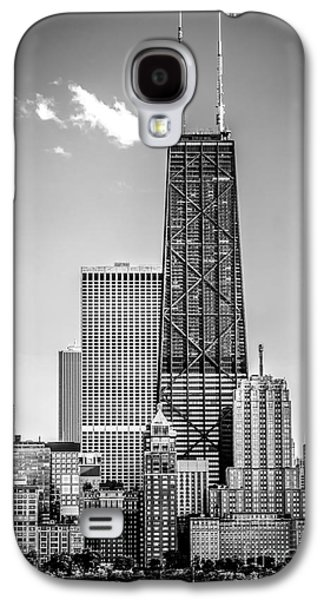 Chicago Hancock Building Black And White Picture Galaxy S4 Case by Paul Velgos