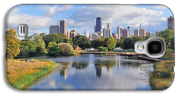 Landmarks Photographs Galaxy S4 Cases - Chicago skyline Galaxy S4 Case by Songquan Deng