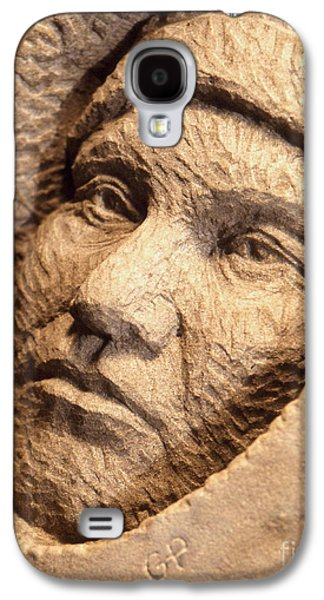 Native Sculptures Galaxy S4 Cases - Chief-Joseph Galaxy S4 Case by Gordon Punt