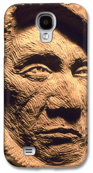 Native Sculptures Galaxy S4 Cases - Chief-Red-Cloud Galaxy S4 Case by Gordon Punt
