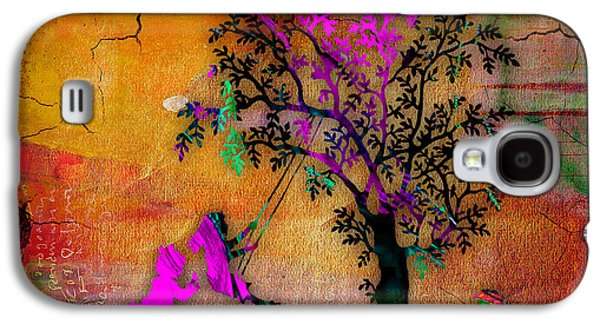 Sunset Galaxy S4 Cases - Children Playing On A Swing Galaxy S4 Case by Marvin Blaine