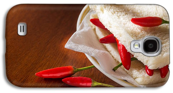 Concept Photographs Galaxy S4 Cases - Chili pepper Sandwich Galaxy S4 Case by Carlos Caetano