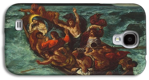 Tempest Galaxy S4 Cases - Christ Asleep during the Tempest Galaxy S4 Case by Eugene Delacroix