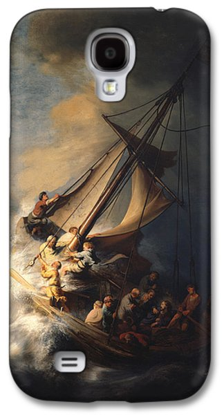 Christ In The Storm On The Sea Of Galilee Galaxy S4 Case by Celestial Images