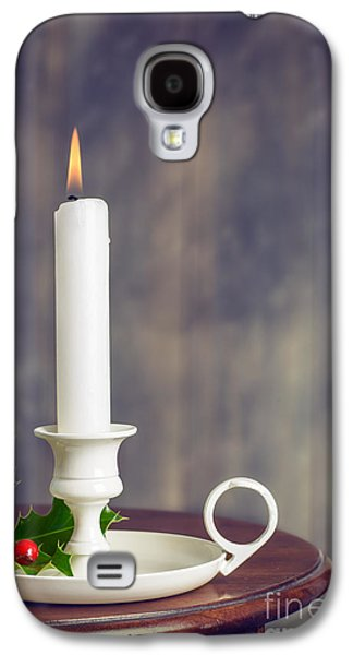 Wintertime Galaxy S4 Cases - Christmas Candle Galaxy S4 Case by Amanda And Christopher Elwell