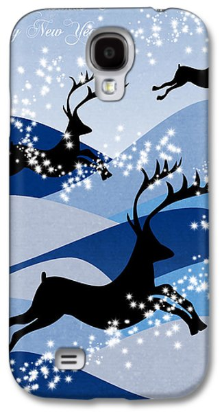 Animation Galaxy S4 Cases - Christmas card 2 Galaxy S4 Case by Mark Ashkenazi