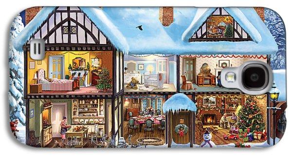 Rudolph Galaxy S4 Cases - Christmas House Galaxy S4 Case by Steve Crisp