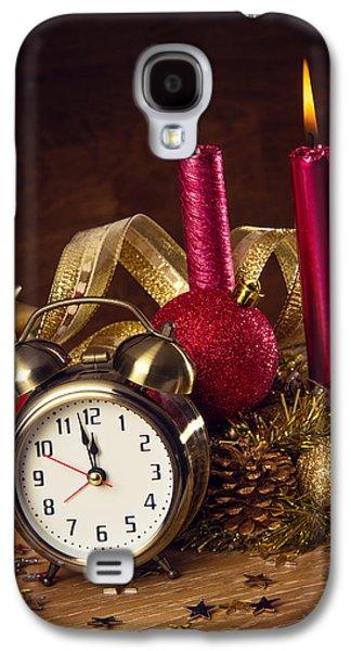 Clock Galaxy S4 Cases - Christmas Still-life Galaxy S4 Case by Carlos Caetano