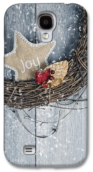 Christmas Cards - Galaxy S4 Cases - Christmas Wreath Galaxy S4 Case by Amanda And Christopher Elwell