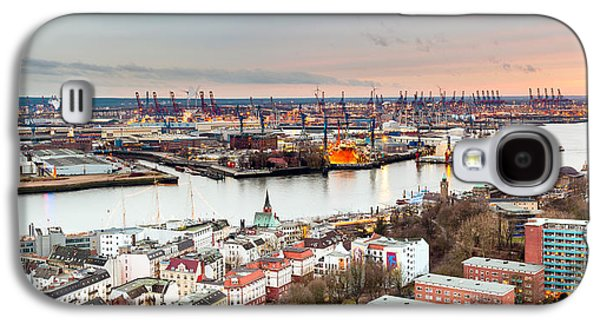 Hamburg Galaxy S4 Cases - City At The Waterfront, Elbe River Galaxy S4 Case by Panoramic Images