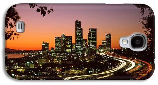 City Scene Galaxy S4 Cases - City of Seattle skyline Galaxy S4 Case by King Wu
