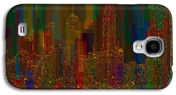 Abstract Digital Art Galaxy S4 Cases - Cityscape 5 Galaxy S4 Case by Jack Zulli